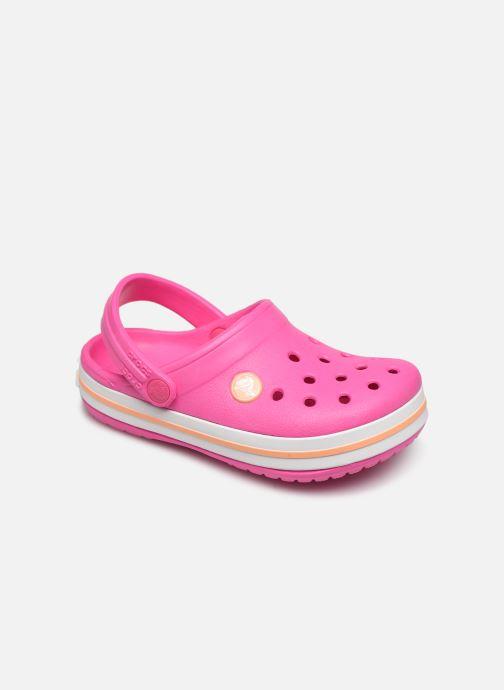 Sandales et nu-pieds Crocs Crocband Clog K Rose vue détail/paire