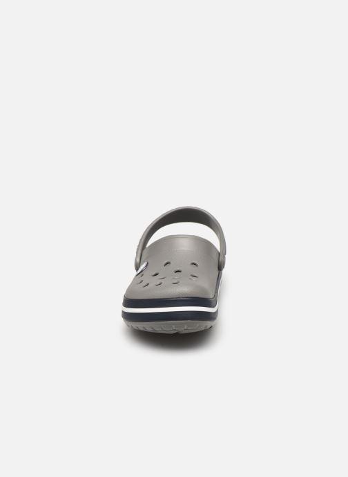 Sandalen Crocs Crocband kids grau schuhe getragen