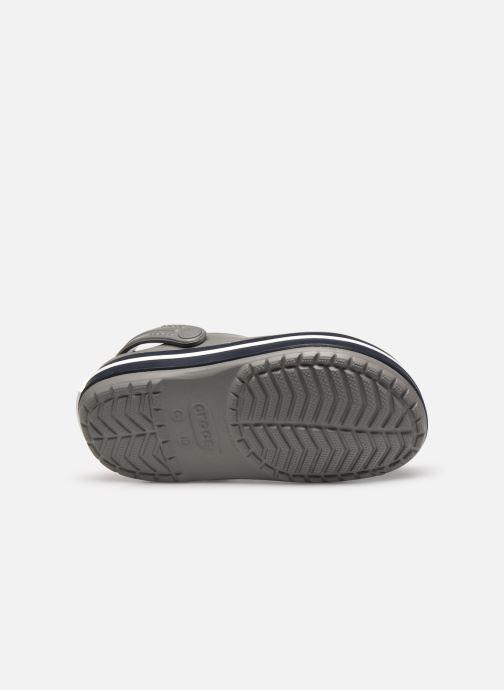Sandales et nu-pieds Crocs Crocband kids Gris vue haut