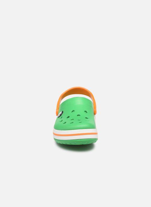 Sandales et nu-pieds Crocs Crocband kids Vert vue portées chaussures