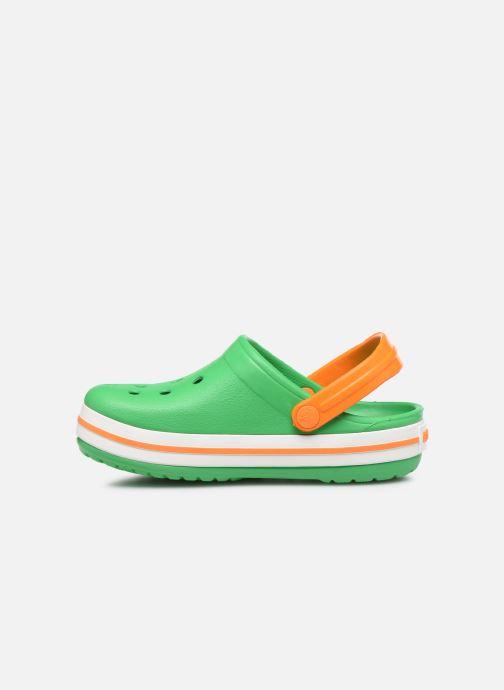 Sandales et nu-pieds Crocs Crocband kids Vert vue face
