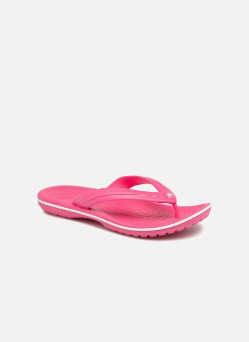 Tongs Crocs Crocband Flip W Rose vue détail/paire