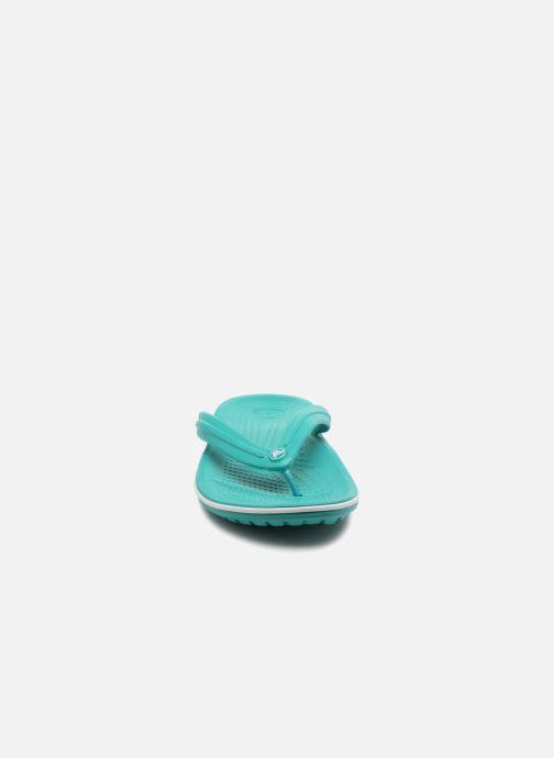 Infradito Crocs Crocband Flip W Verde modello indossato