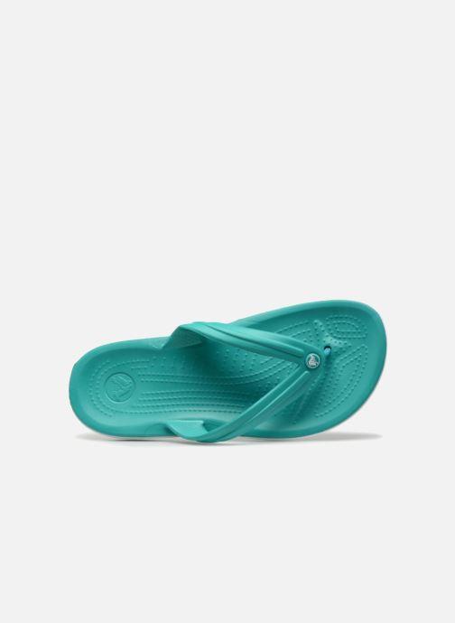 Infradito Crocs Crocband Flip W Verde immagine sinistra