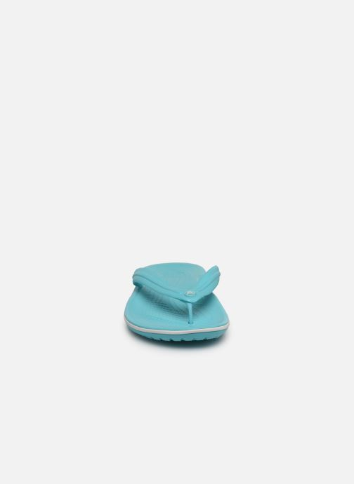 Zehensandalen Crocs Crocband Flip W blau schuhe getragen