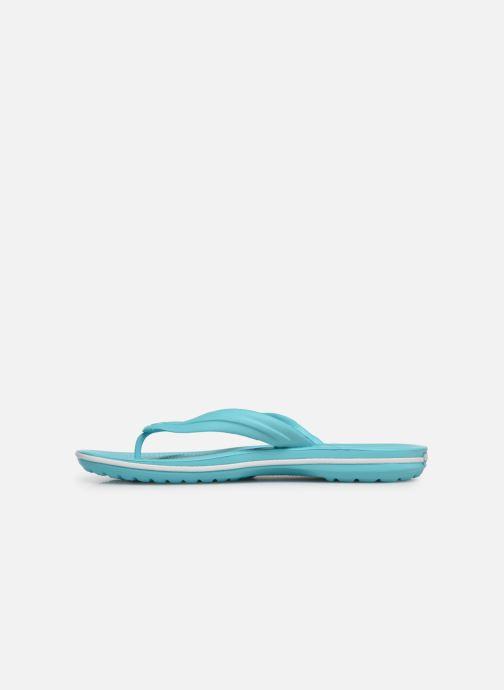 Zehensandalen Crocs Crocband Flip W blau ansicht von vorne
