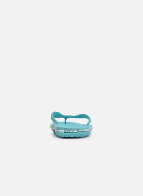 Zehensandalen Crocs Crocband Flip W blau ansicht von rechts