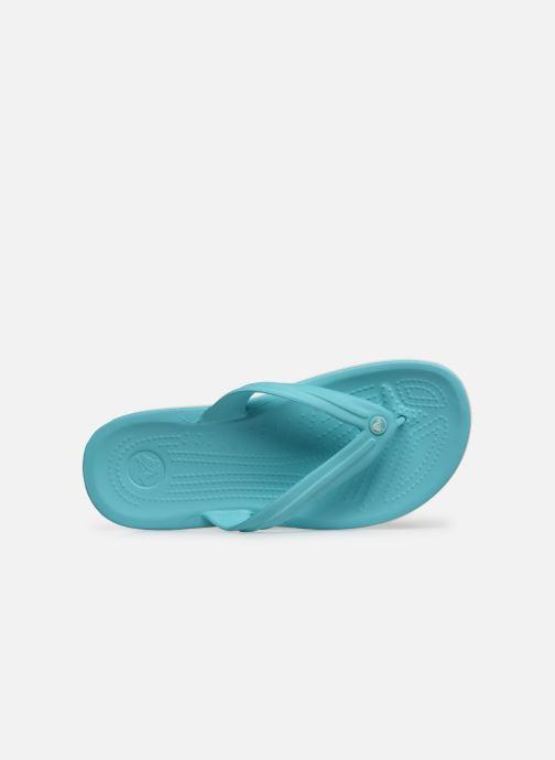 Zehensandalen Crocs Crocband Flip W blau ansicht von links