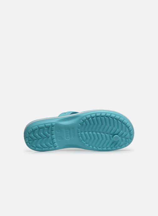 Zehensandalen Crocs Crocband Flip W blau ansicht von oben