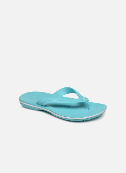 Tongs Crocs Crocband Flip W Bleu vue détail/paire