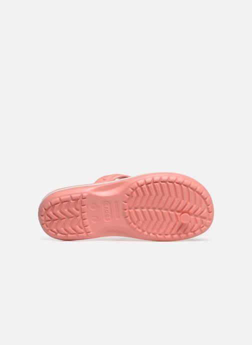 Tongs Crocs Crocband Flip W Rose vue haut