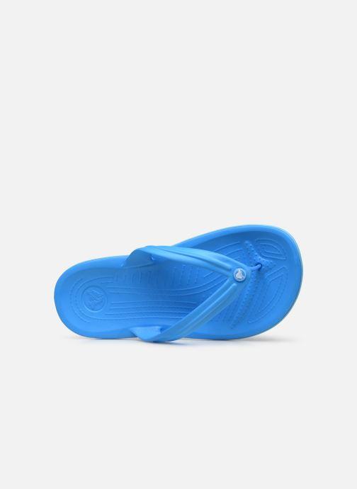 Flip flops Crocs Crocband Flip W Blue view from the left