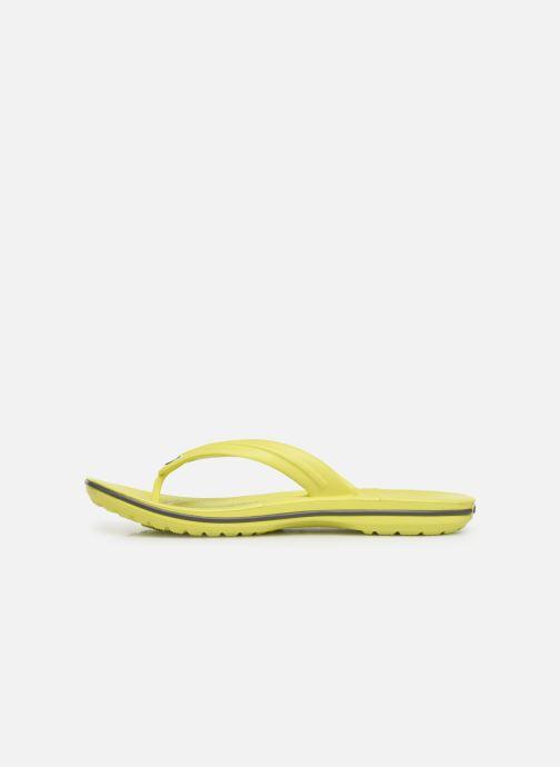Tongs Crocs Crocband Flip W Jaune vue face