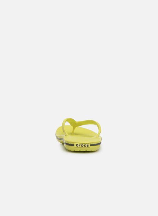 Tongs Crocs Crocband Flip W Jaune vue droite