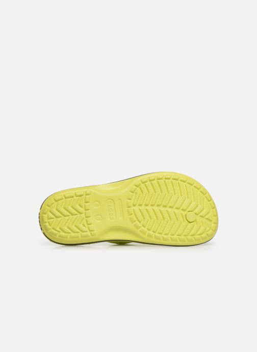 Tongs Crocs Crocband Flip W Jaune vue haut