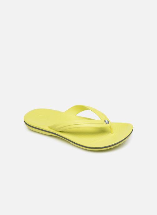 Tongs Crocs Crocband Flip W Jaune vue détail/paire