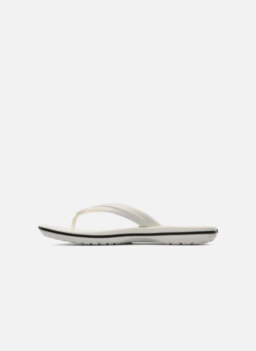 Chanclas Crocs Crocband Flip W Blanco vista de frente