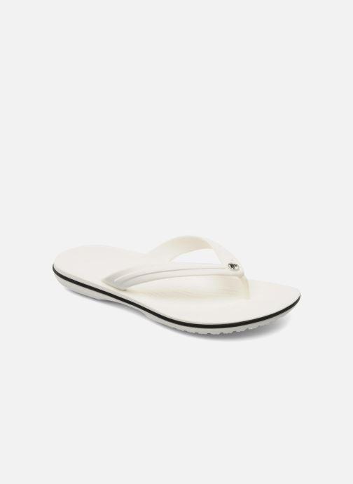 Tongs Crocs Crocband Flip W Blanc vue détail/paire