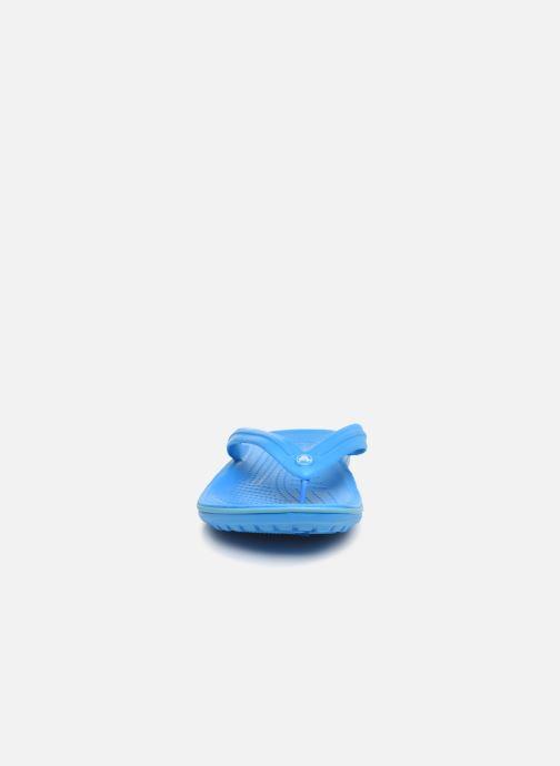 Zehensandalen Crocs Crocband Flip M blau schuhe getragen
