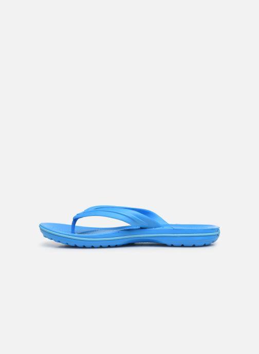 Zehensandalen Crocs Crocband Flip M blau ansicht von vorne