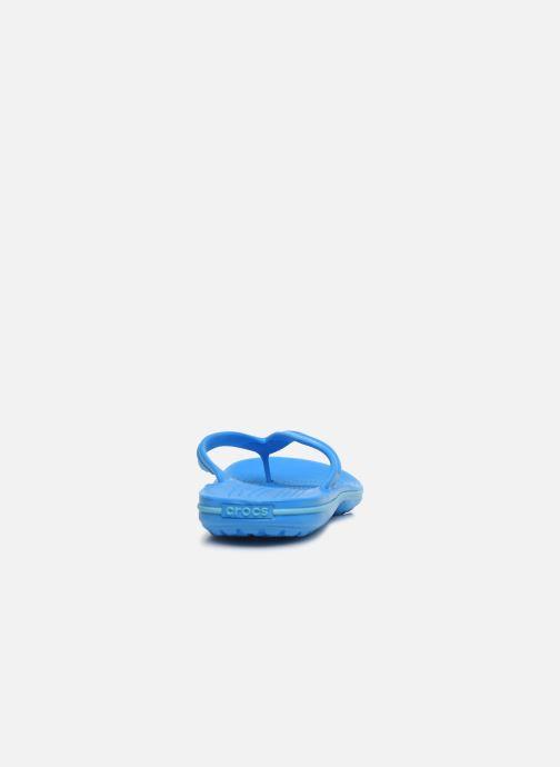 Zehensandalen Crocs Crocband Flip M blau ansicht von rechts