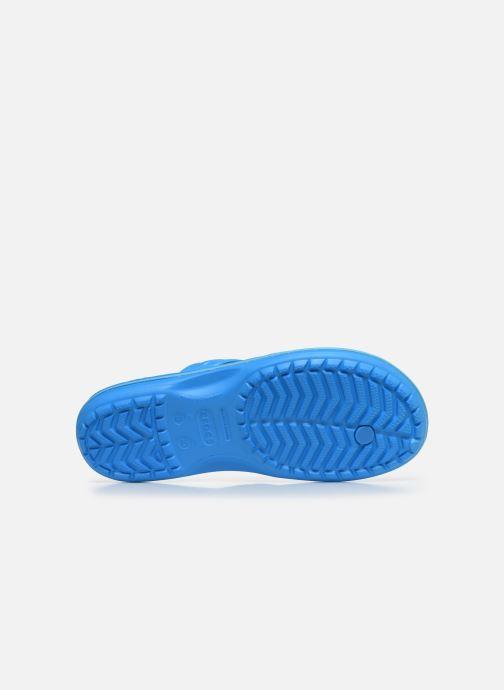 Zehensandalen Crocs Crocband Flip M blau ansicht von oben