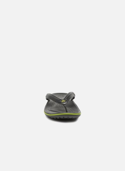 Zehensandalen Crocs Crocband Flip M grau schuhe getragen