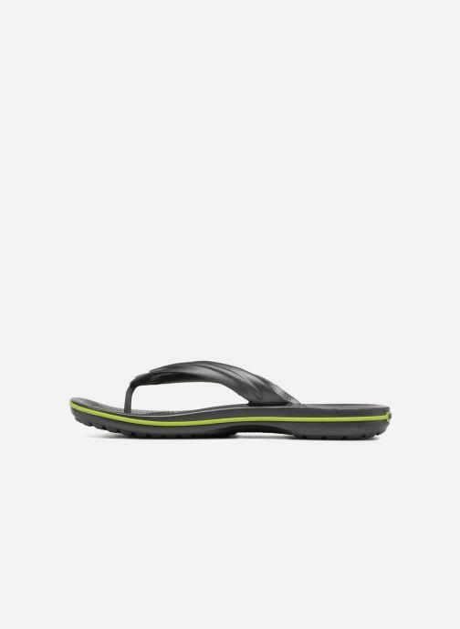 Zehensandalen Crocs Crocband Flip M grau ansicht von vorne