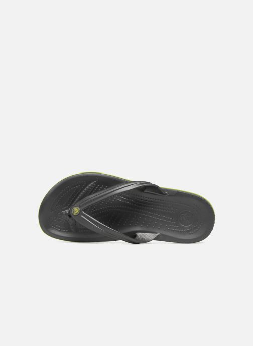 Zehensandalen Crocs Crocband Flip M grau ansicht von links