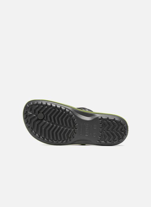 Zehensandalen Crocs Crocband Flip M grau ansicht von oben