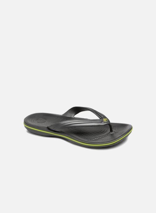 Tongs Crocs Crocband Flip M Gris vue détail/paire