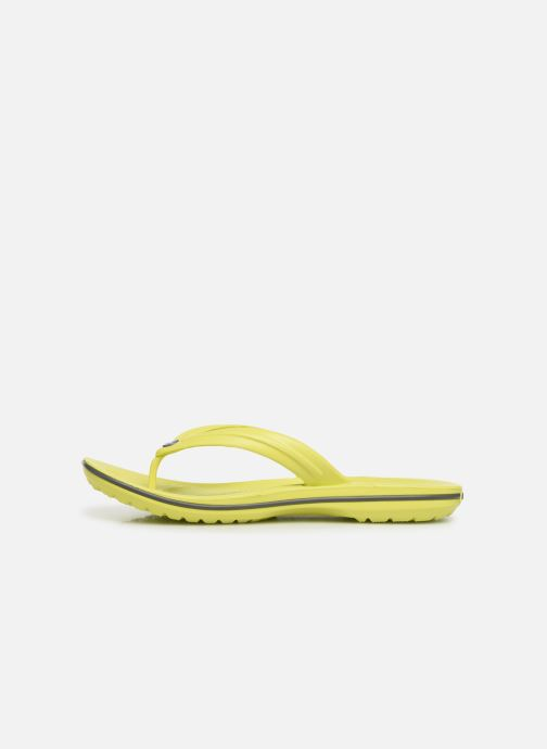 Tongs Crocs Crocband Flip M Jaune vue face
