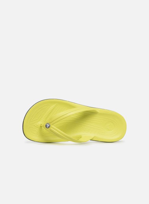 Tongs Crocs Crocband Flip M Jaune vue gauche