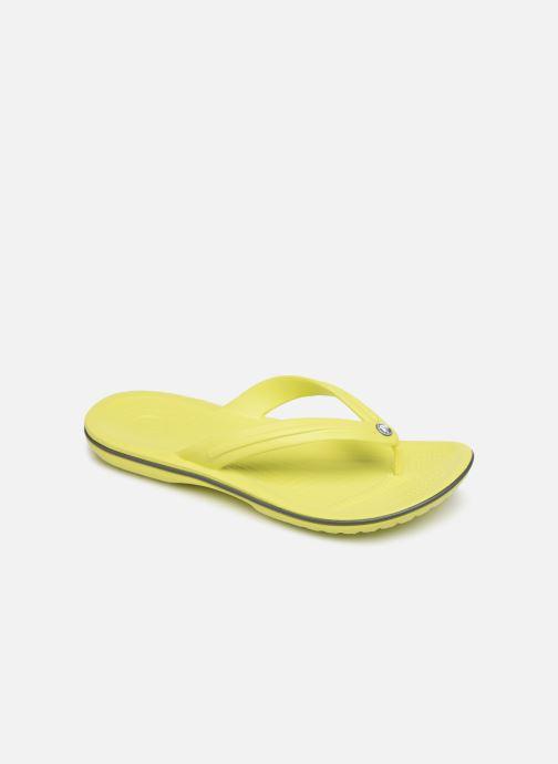 Tongs Crocs Crocband Flip M Jaune vue détail/paire