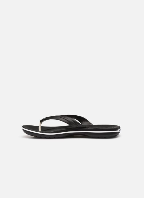 Zehensandalen Crocs Crocband Flip M schwarz ansicht von vorne