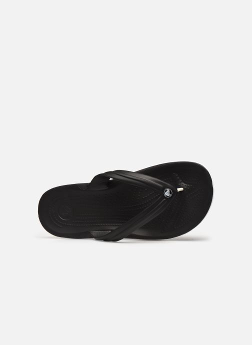 Zehensandalen Crocs Crocband Flip M schwarz ansicht von links