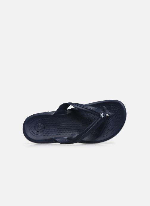 Tongs Crocs Crocband Flip M Bleu vue gauche