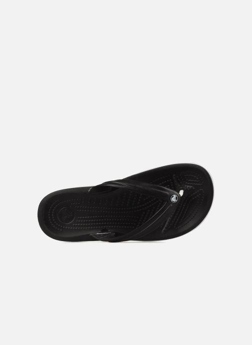 Tongs Crocs Crocband Flip M Noir vue gauche
