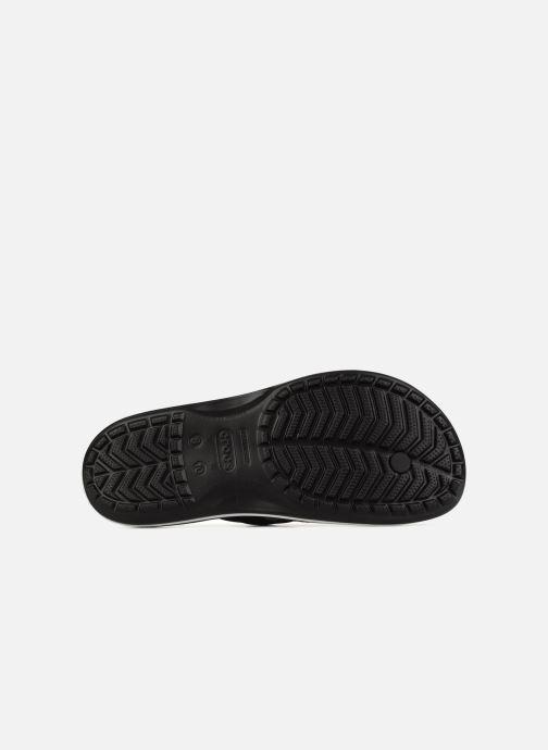 Zehensandalen Crocs Crocband Flip M schwarz ansicht von oben