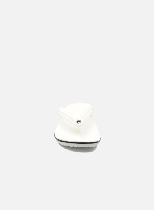 Zehensandalen Crocs Crocband Flip M weiß schuhe getragen