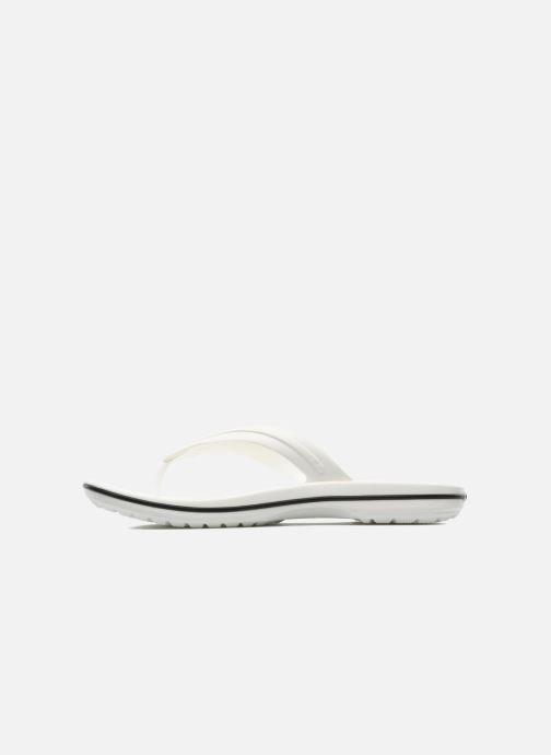 Zehensandalen Crocs Crocband Flip M weiß ansicht von vorne