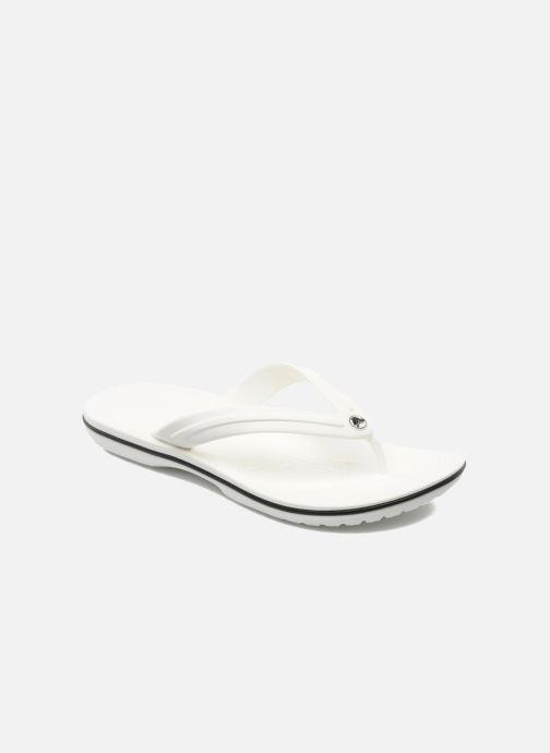 Tongs Crocs Crocband Flip M Blanc vue détail/paire