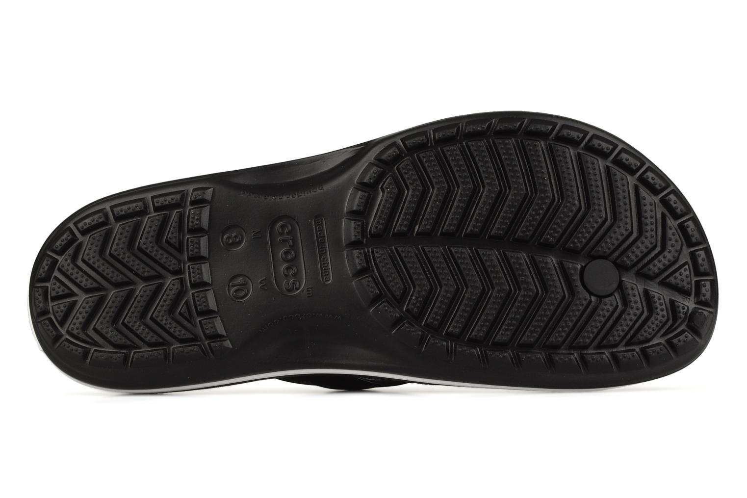 Flip flops Crocs Crocband Flip M Black view from above