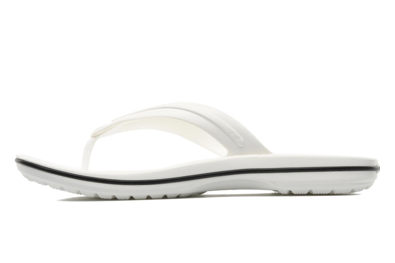 Flip flops Crocs Crocband Flip M White front view
