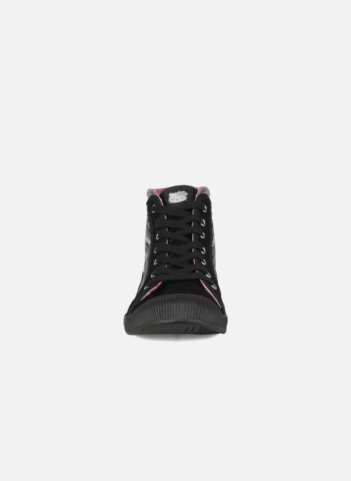 Baskets Hello Kitty Hk luna mid Noir vue portées chaussures