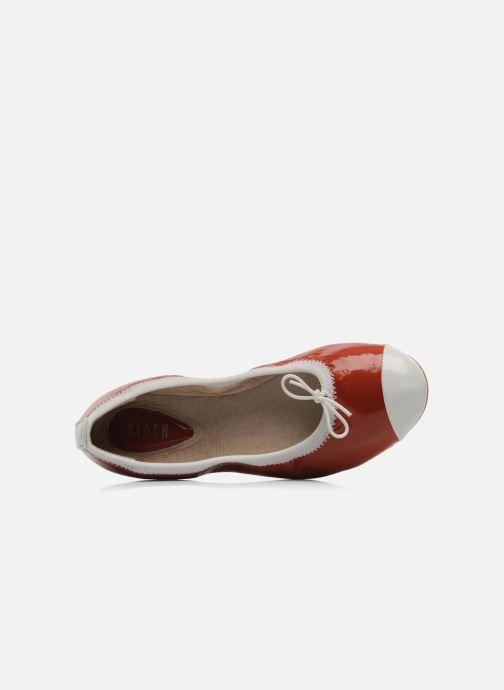 Ballerinas Bloch Girls luxury rot ansicht von links