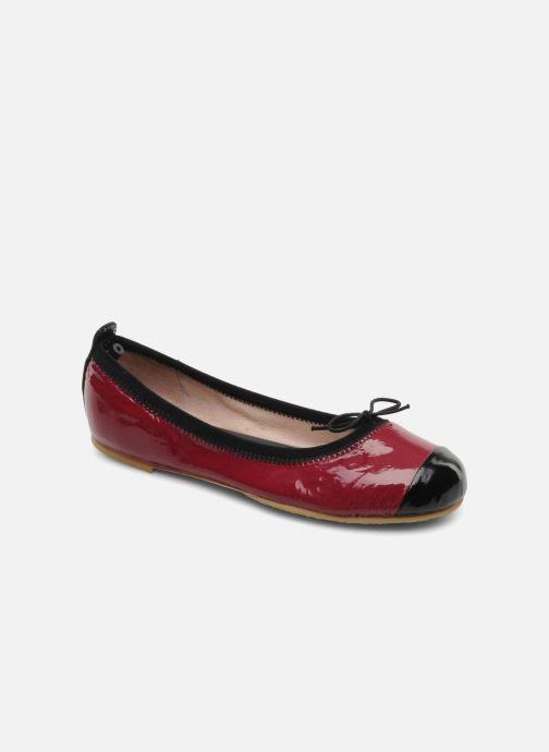 Ballerinaer Bloch Girls luxury Bordeaux detaljeret billede af skoene