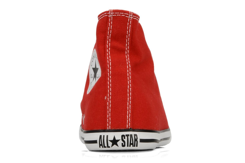 Baskets Converse Chuck taylor all star slim canvas hi k Rouge vue droite