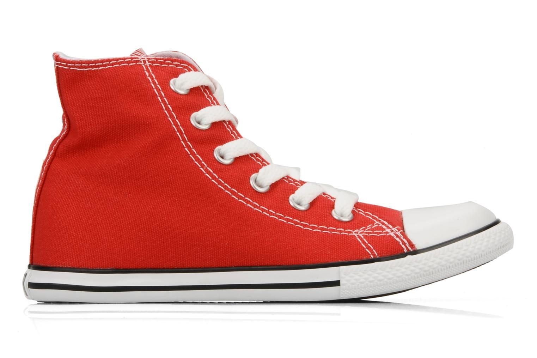 Baskets Converse Chuck taylor all star slim canvas hi k Rouge vue derrière