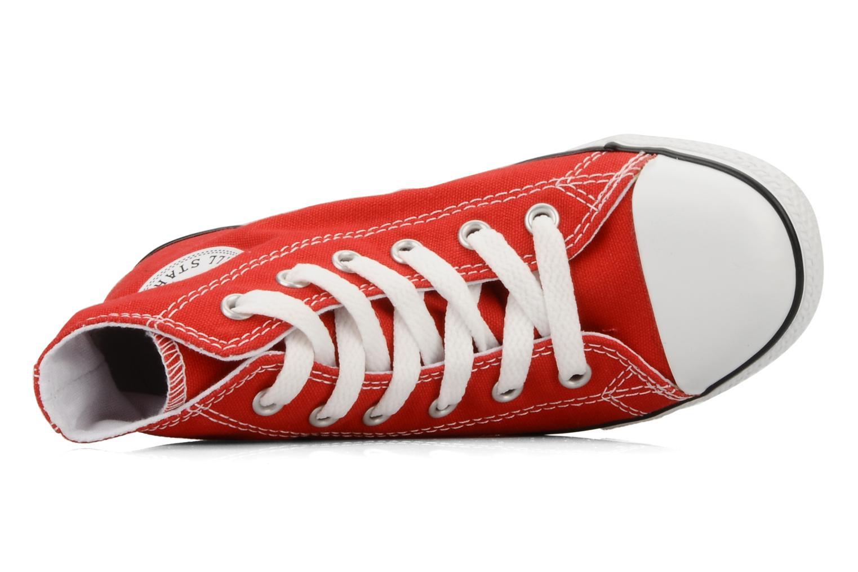 Baskets Converse Chuck taylor all star slim canvas hi k Rouge vue gauche